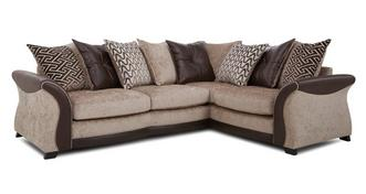 Merida Left Hand Facing 3 Seater Pillow Back Deluxe Corner Sofa Bed