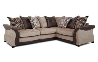 Left Hand Facing 3 Seater Pillow Back Deluxe Corner Sofa Bed Merida