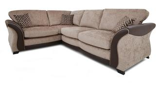 Merida Right Hand Facing 3 Seater Formal Back Deluxe Corner Sofa Bed