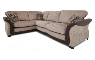 Right Hand Facing 3 Seater Formal Back Deluxe Corner Sofa Bed Merida