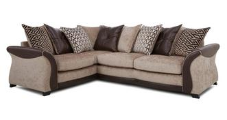 Merida Right Hand Facing 3 Seater Pillow Back Deluxe Corner Sofa Bed