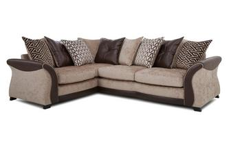 Right Hand Facing 3 Seater Pillow Back Deluxe Corner Sofa Bed Merida