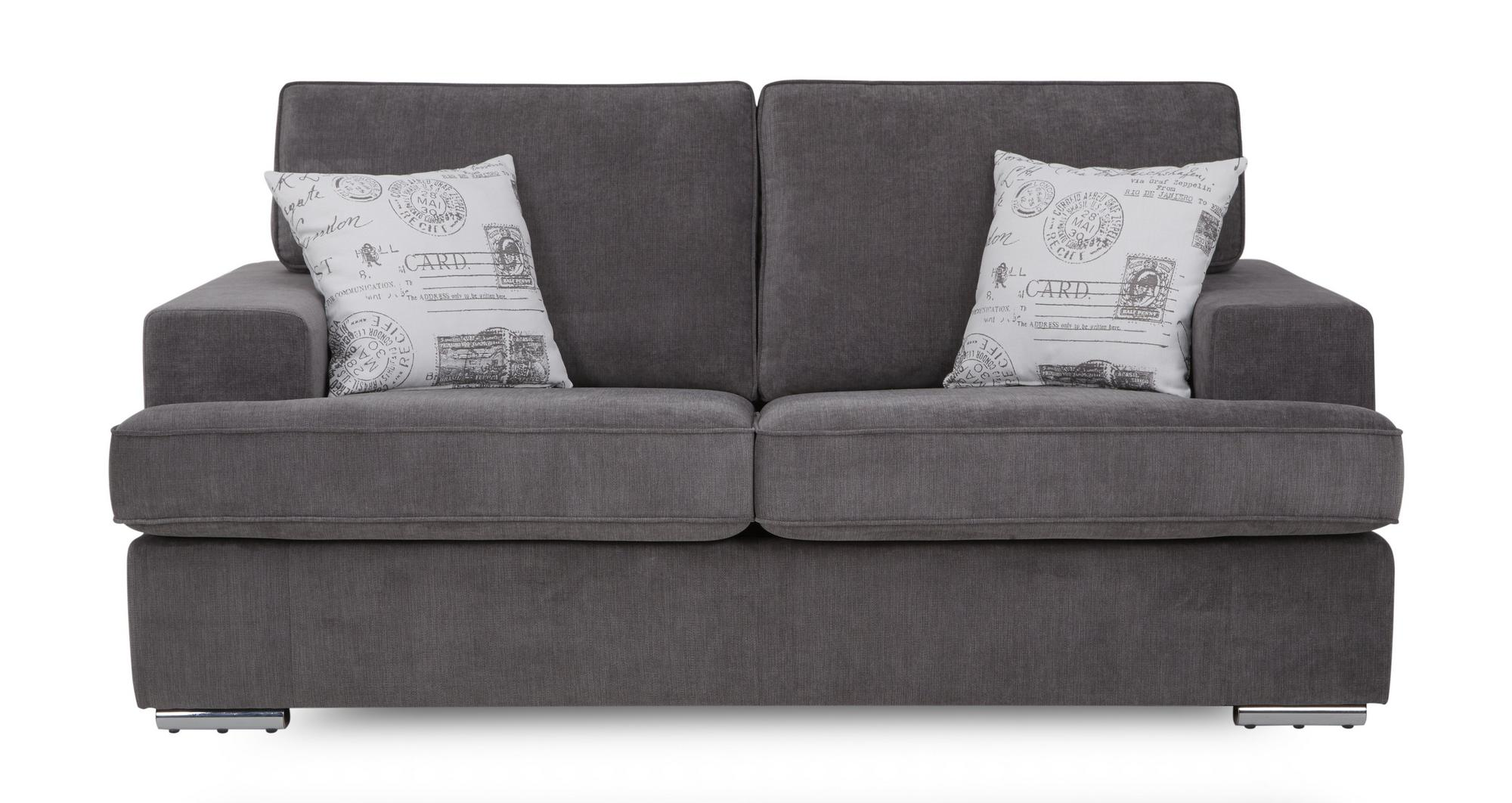Dfs Merit Graphite Grey Fabric 2 Seater Sofa Bed Ebay