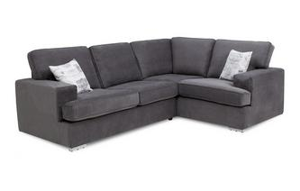 Left Hand Facing 2 Seater Corner Sofa Bed Plaza