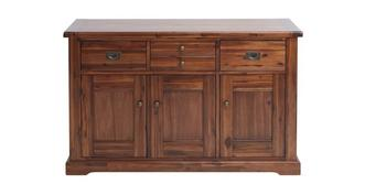 Merlot Large 3 Drawer 3 Door Sideboard