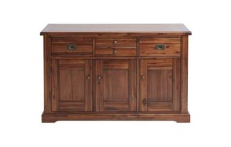 Large 3 Drawer 3 Door Sideboard Merlot