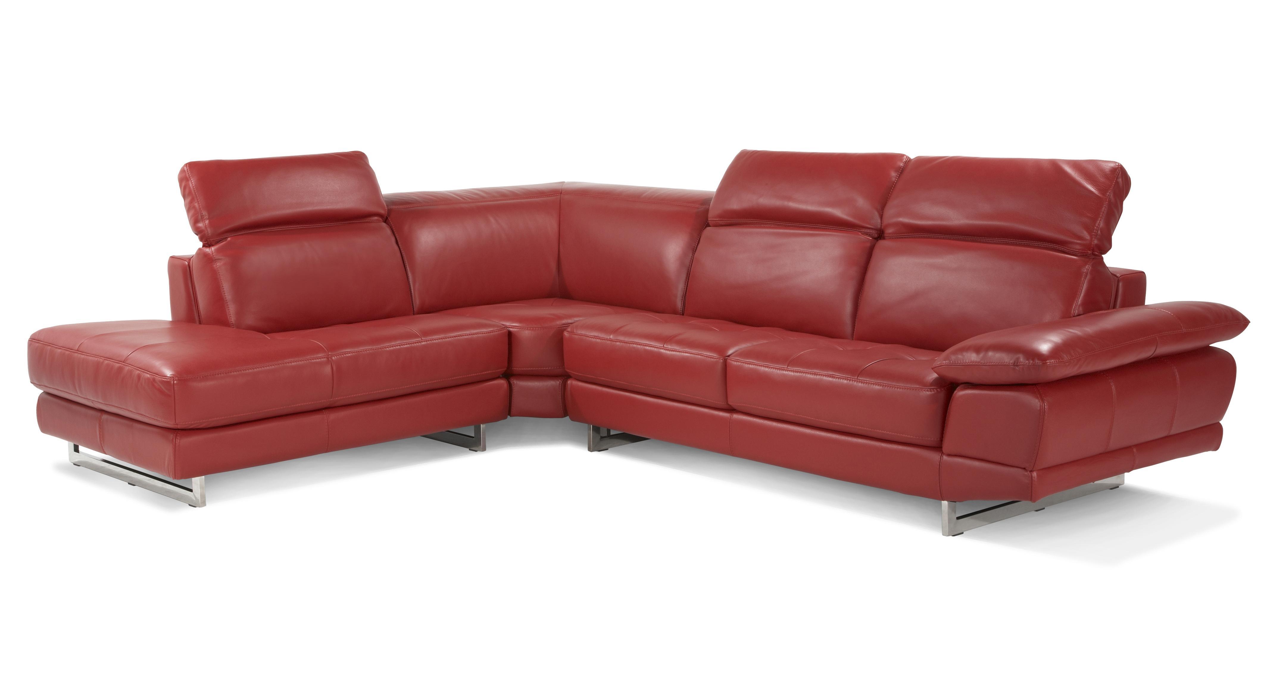 Milan Right Arm Facing Corner Sofa Vogue Leather Dfs