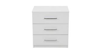 Milo 3 Drawer Bedside Table