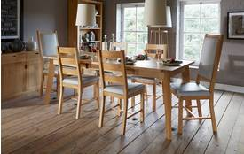 Modus Dining Extending Dining Table & Set of 4 Chairs Modus Oak