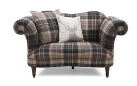 Moray Check Cuddler Sofa Moray