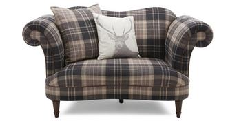 Moray Check Cuddler Sofa