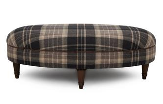 Check Oval Footstool Moray