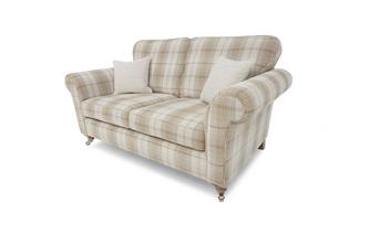Plaid 2 Seater Formal Back Sofa Morland