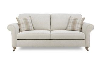 Plain 4 Seater Formal Back Sofa Morland