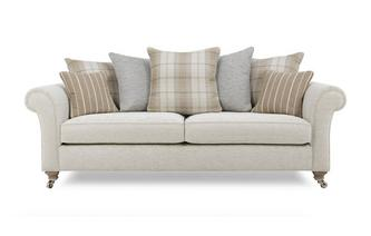 Plain 4 Seater Pillow Back Sofa Morland