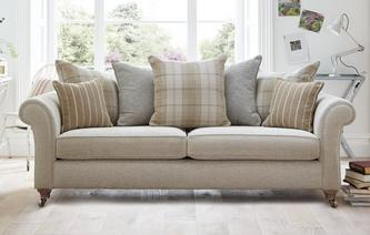 Morland Plain 4 Seater Pillow Back Sofa Morland