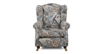 Morris Pattern Wing Chair