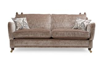 4 Seater Plain Formal Back Sofa