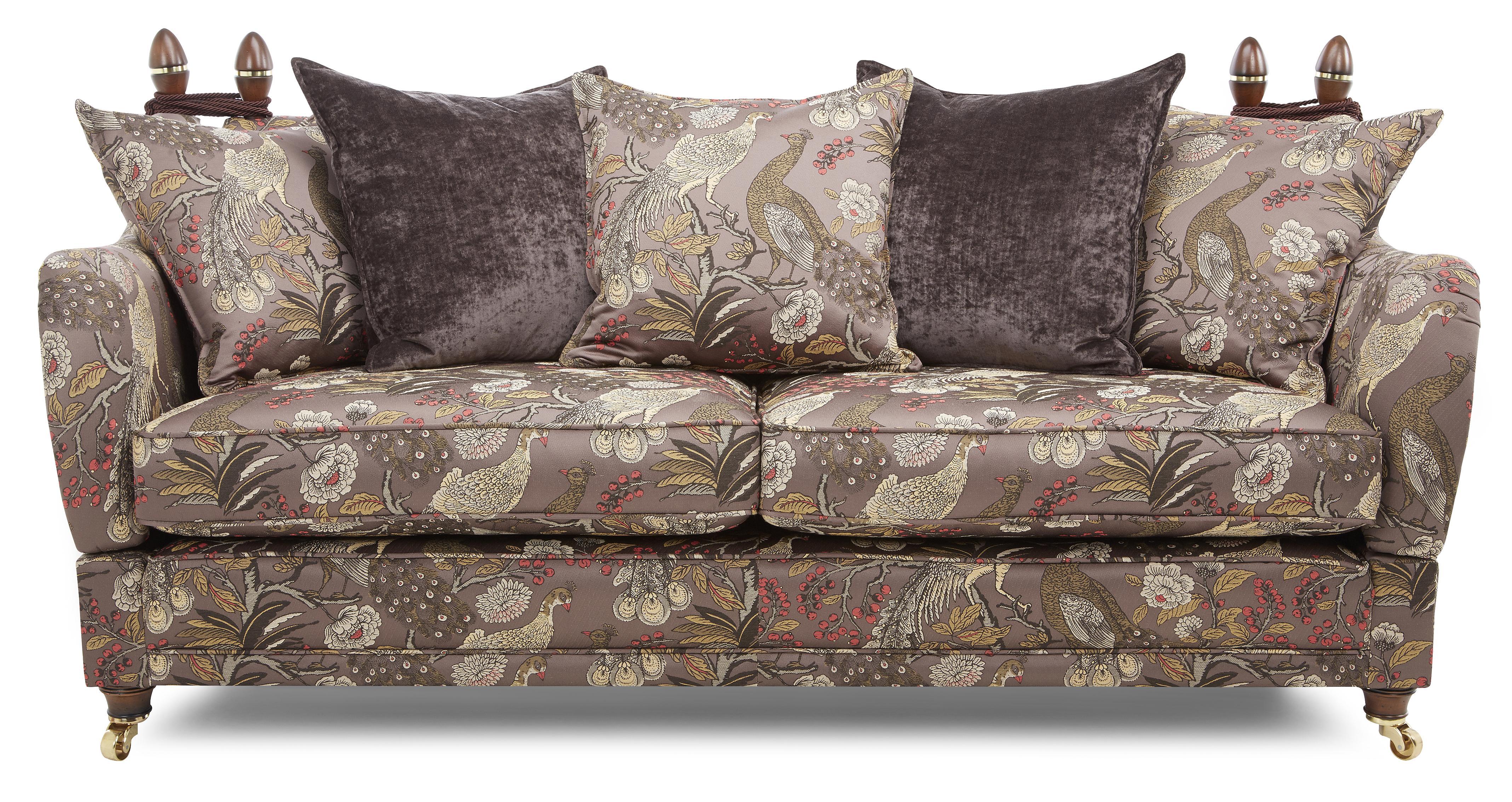 Morris 4 Seater Pattern Pillow Back Sofa