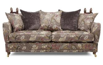4 Seater Pattern Pillow Back Sofa Morris