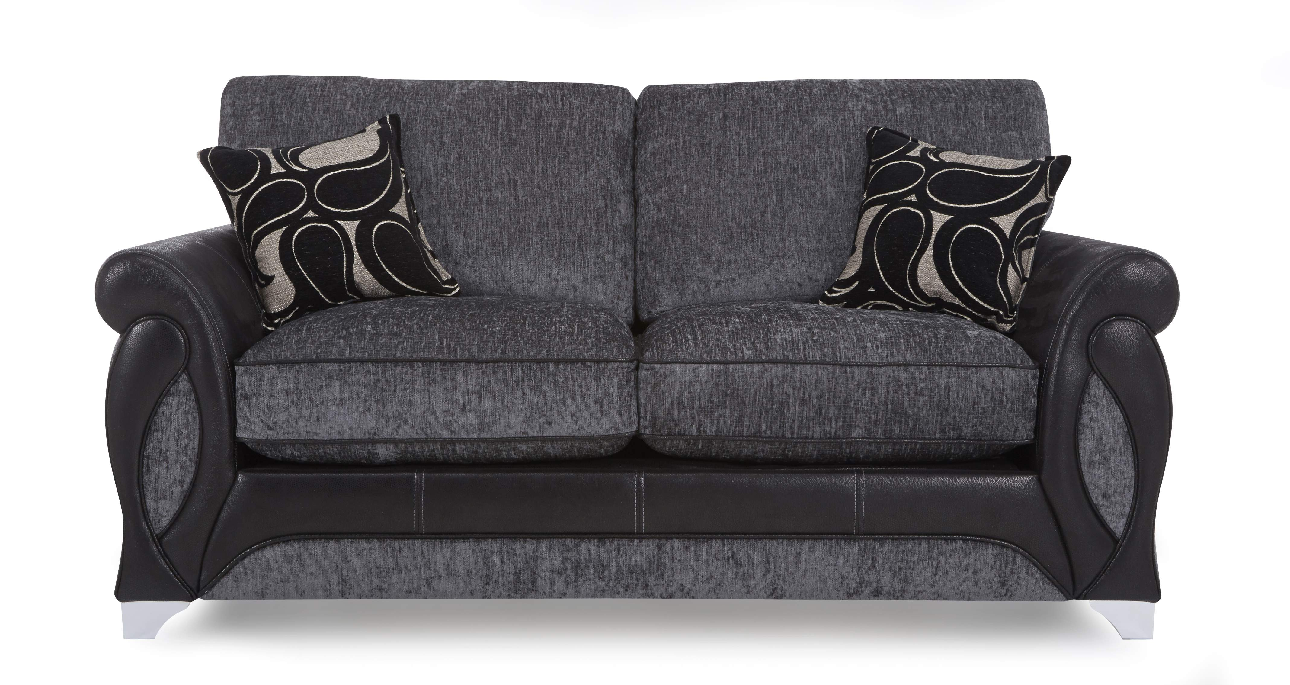 Dfs Myriad Set Incl 2 Seater Charcoal Sofa Bed And Chair