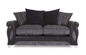 Large 2 Seater Pillow Back Deluxe Sofa Bed