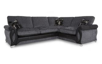 Left Hand Facing 3 Seater Formal Back Corner Sofa Myriad