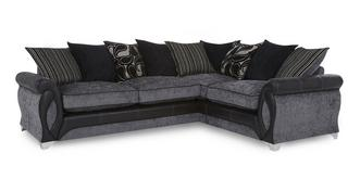 Myriad Left Hand Facing 3 Seater Pillow Back Corner Sofa