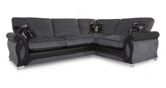 Myriad Left Hand Facing 3 Seater Formal Back Corner Deluxe Sofa Bed