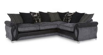 Myriad Left Hand Facing 3 Seater Pillow Back Corner Deluxe Sofa Bed