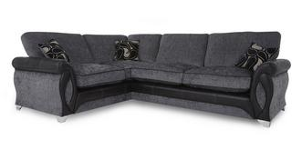 Myriad Right Hand Facing 3 Seater Formal Back Deluxe Corner Sofa Bed