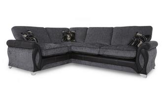Right Hand Facing 3 Seater Formal Back Deluxe Corner Sofa Bed Myriad