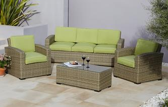 Nabali 3 Seater Sofa Set PU Rattan