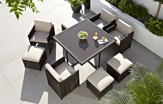 Naples 9 Piece Dining Set PU Rattan