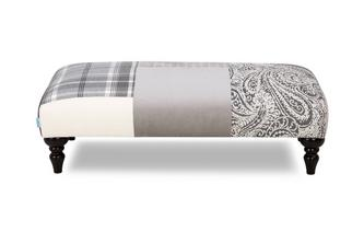 Patch Banquette Footstool Aspen Patch