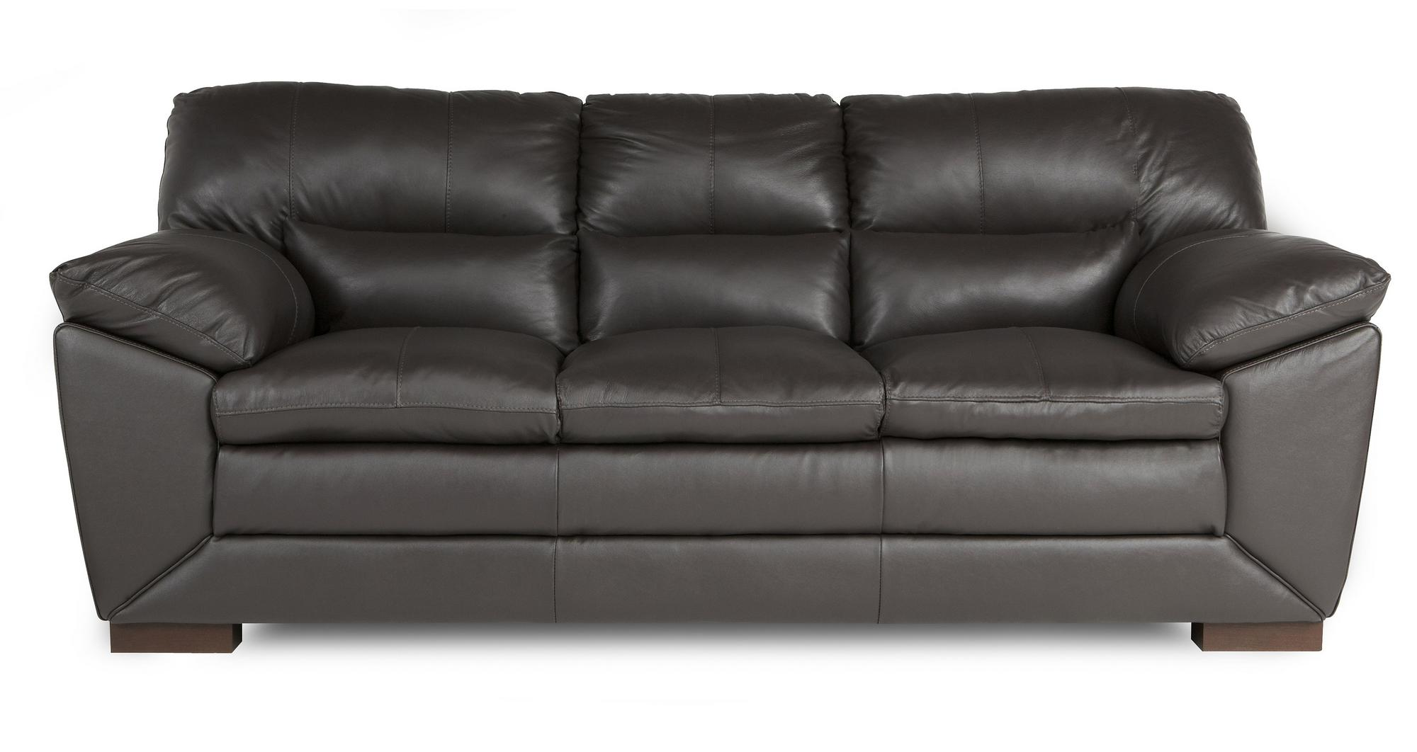 Dfs New Valiant Mocha Brown 100 Leather 3 Seater Sofa