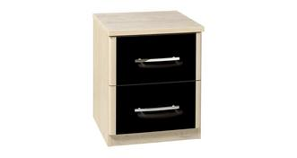 Noiret 2 Drawer Bedside Chest