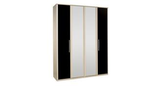 Noiret 4 Door Bi Fold Mirror Robe