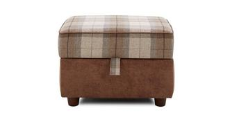 Oakland Check Top Storage Footstool