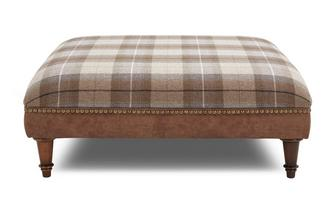 Check Top Large Footstool Oakland (Oakland)