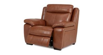 Octavious Leather and Leather Look Manual Recliner Chair