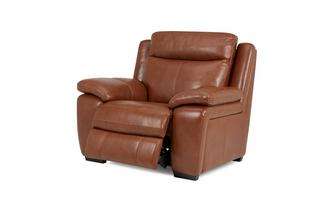 Octavious Leather and Leather Look Electric Recliner Chair Brazil with Leather Look Fabric