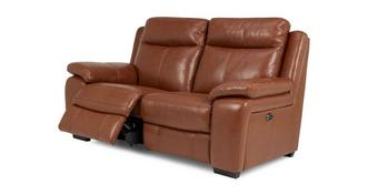 Octavious Leather and Leather Look 2 Seater Electric Recliner
