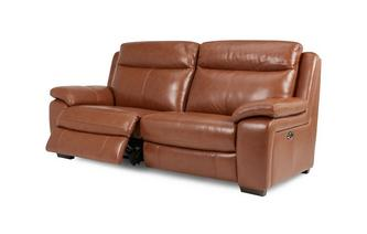 Leather and Leather Look 3 Seater Electric Recliner