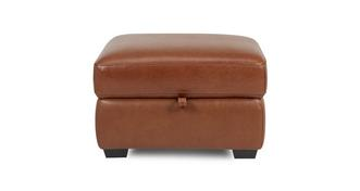 Octavious Leather and Leather Look Storage Footstool
