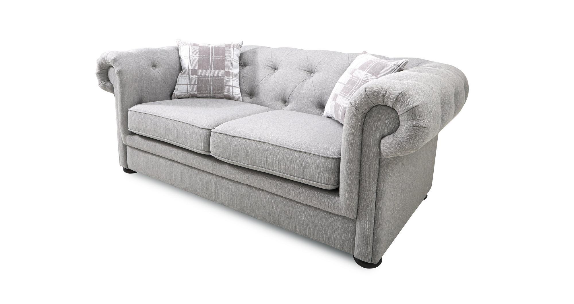 Dfs Opera Ash Grey Fabric 2 Seater Sofa Bed Ebay