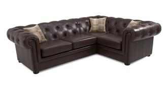 Opera Leather Left Arm Facing 2 Piece Corner Sofa