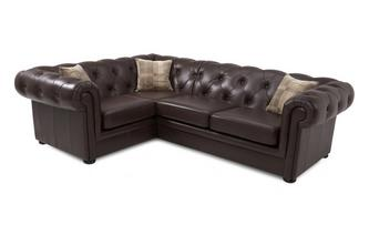 Leather Right Arm Facing 2 Piece Corner Sofa
