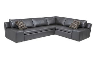Option A Left Hand Facing 2 Seater Corner Sofa Fuse Leather