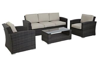 Sofa Set PU Rattan
